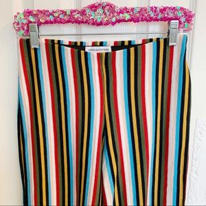 Urban Outfitters Pants - NWT Urban Outfitters Rainbow Striped Knit Widelegs